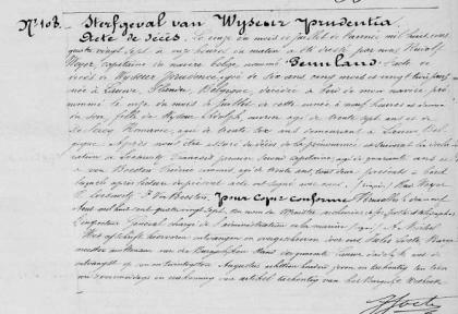 1887 juli 11 overlijdensakte wyseur prudence