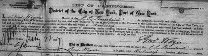 1887 juli passagierslijst Wyseur