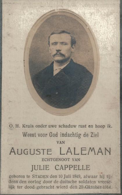 1914-okt-20-doodsprentje-auguste-laleman-voorzijde